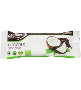12 x 50 gram: Organic Food Bar Chocolade Kokosnoot